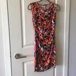 DVF Patterned Stretch Silk Ruched SELENE Dress